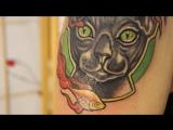ProTATTOO - студия художественной татуировки /MOSCOW ART STUDIO / Сфинкс. Перекрытие.