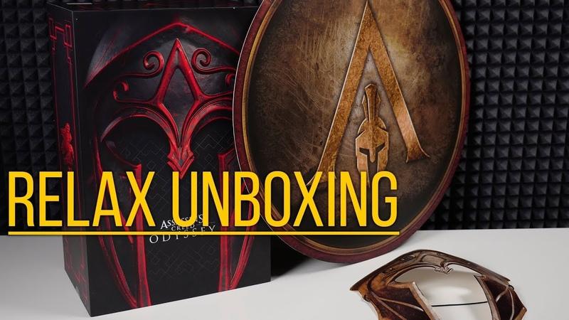 Assassins Creed Одиссея Spartan Edition подарки от Ubisoft - Relax Unboxing