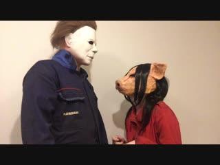 Michael booping Amanda video
