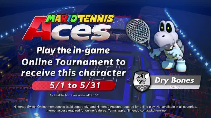 Mario Tennis Aces Трейлер Купа скелета