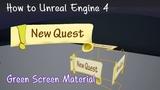 Как можно использовать видео в качестве материалов в UE, как вырезать цвет из видео-текстур (chroma key)