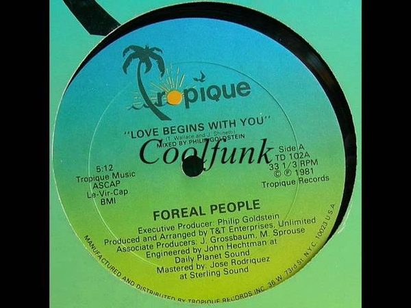 Foreal People - Love Begins With You (12 Funk 1981)