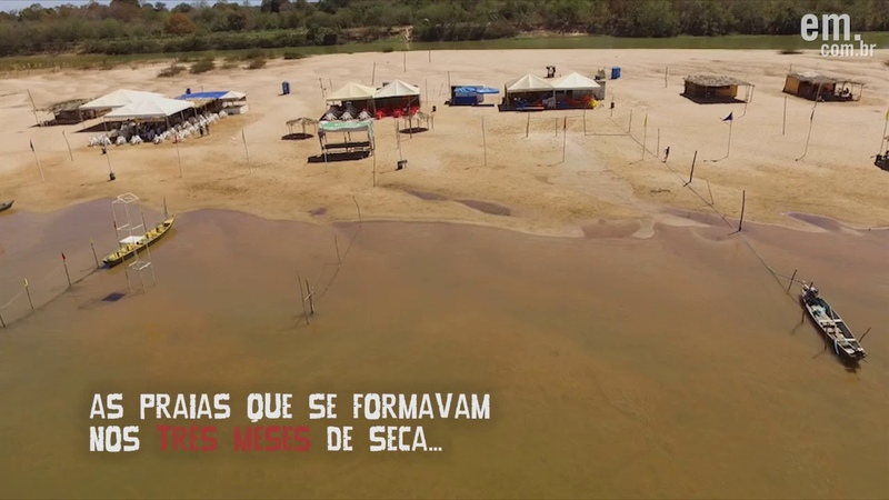 Rio São Francisco - Imagens de drone mostram sedimentos soterrando o Velho Chico