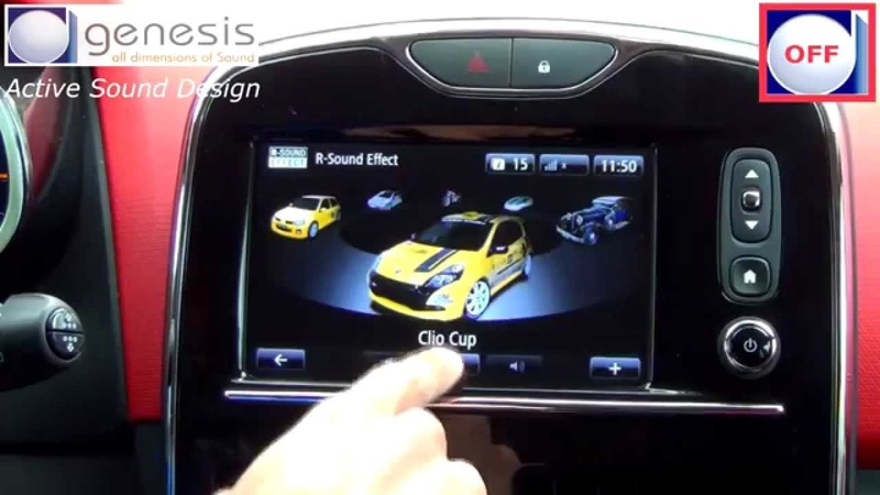 Renault CLIO 4 - Active Sound Design by GENESIS and RENAULT