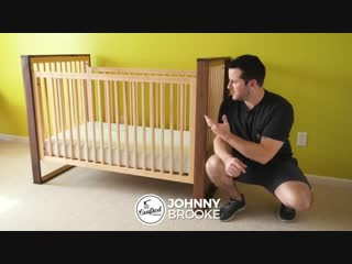 Детская кроватка из клёна и ореха Mid-Century Modern Walnut and Maple Baby Crib __ How To - Woodworking