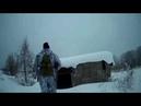 Моя первая охота с папой Следы на снегу Пока без дичи