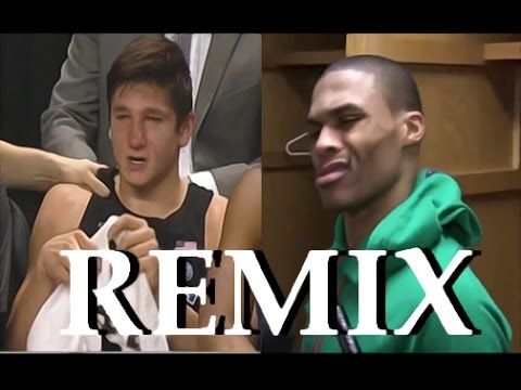 Russel Westbrook reacts to Grayson Allen Tripping REMIX Yall Niggas Trippin