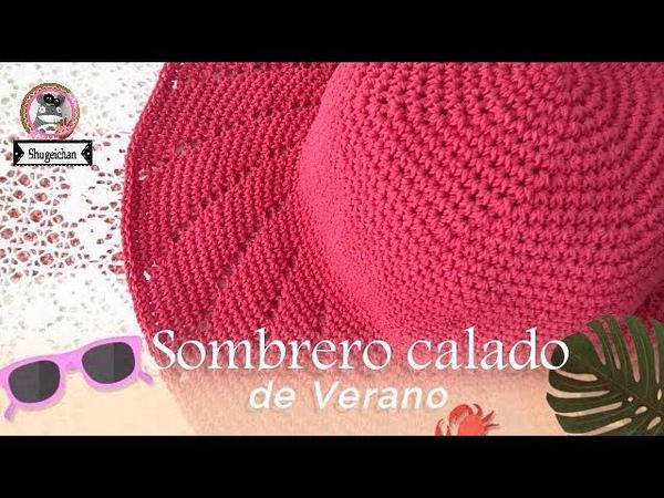 Sombrero calado de verano CROCHET