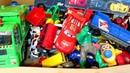 Большая Коробка с Игрушками Мультики Машинки Развивающие Мультфильмы для Детей