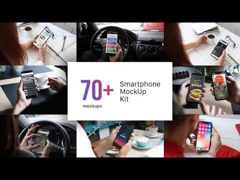 Smartphone Mockup Kit Phone X s8 Real Footage After Effects templates videohive