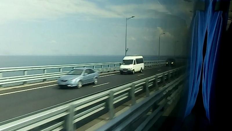 Крымский мост глазами пассажира.