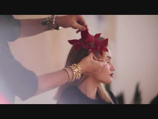 Holiday hair tutorial with Rosie Huntington-Whiteley and Adir Abergel
