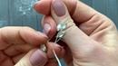 Мастер-класс по созданию свадебной шпильки из проволоки, фианитов, хрустальных капель и листиков