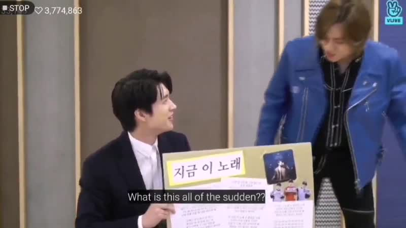 [181212] V-live dongwoo suddenly appeared and scared woohyun his