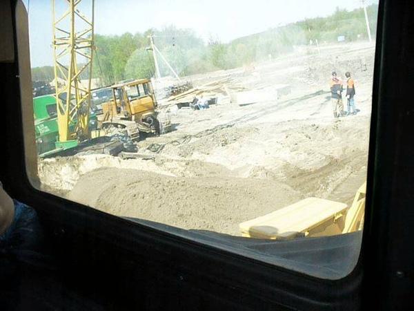 DET-250M2 start n doin job. Inside the cab view.
