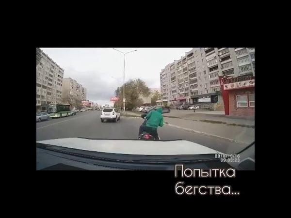Мотоциклист попытался скрыться с места ДТП в Семее