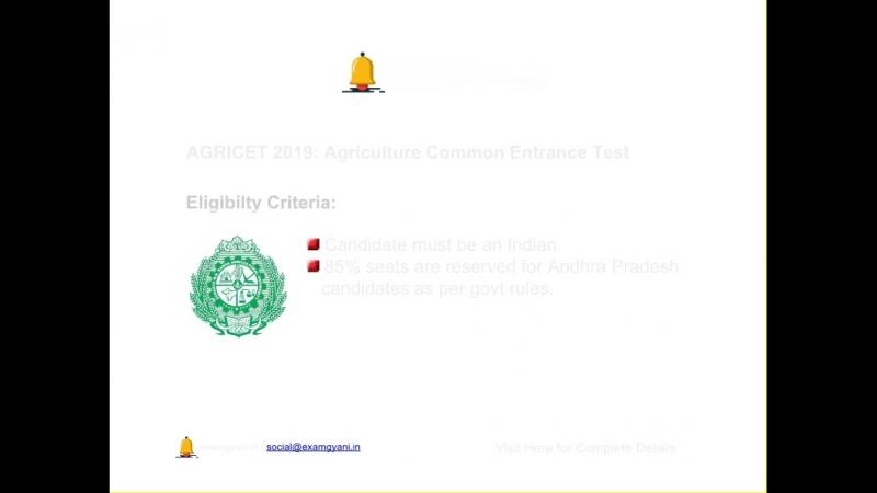 AGRICET 2019: Admit Card, Important Exam Dates, Result, Syllabus - Examgyani