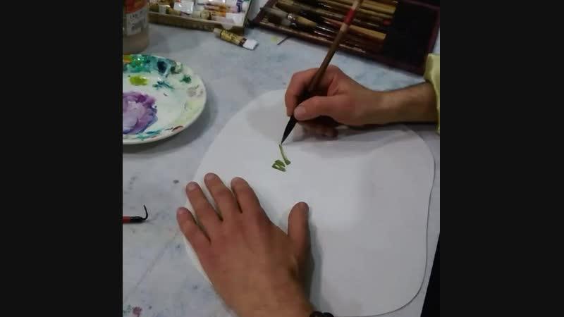 Демонстрация рисования кузнечиков
