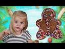Рождественское печенье Алисы 2 years old Alisa bakes Christmas cookies