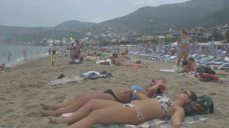 Турция Аланья Пляж Клеопатры - 30 Turkey Alanya Cleopatra beach Kleopatra Plajı समुद्र तट
