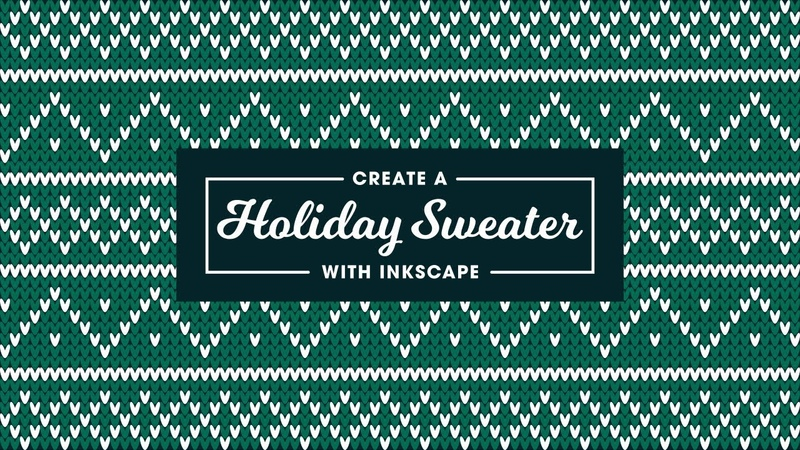 Inkscape Tutorial Holiday Sweater Pattern