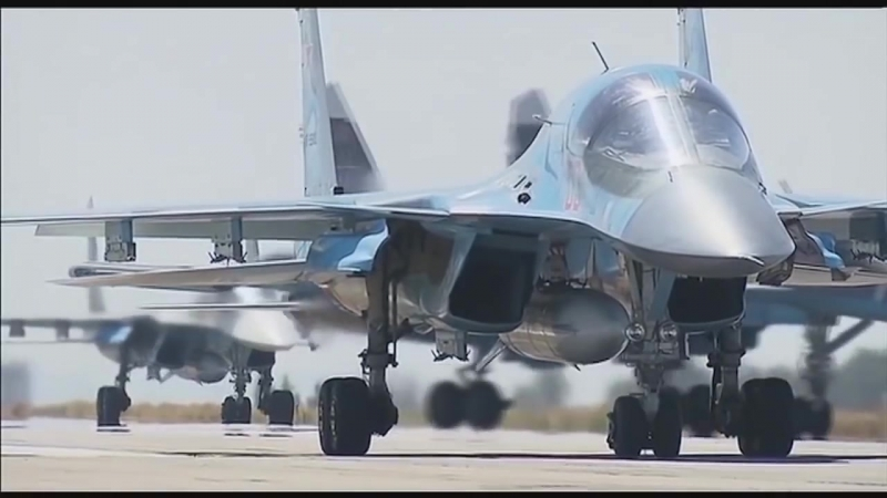 СИРИЯ ВКС РОССИИ - Возвращение домой (Су-25, Су-24, Су-34, Ил-76,Су-30, Ту-154)