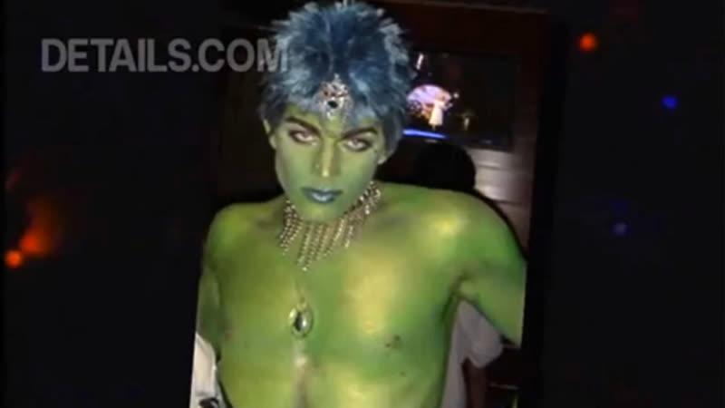 A glittery alien from the planet fierce
