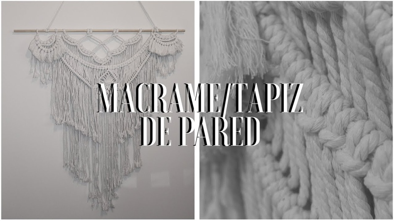 MACRAMÉ - TAPIZ DE PARED ESTILO BOHO/macrame wall hanging boho style.