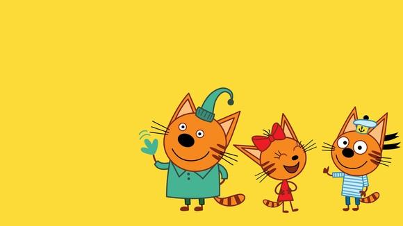 Три кота мультфильм открытка, открытку день рождение