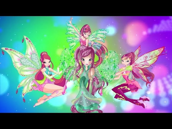 Winx Club- Roxy All Transformations Up To Starlix! [Unofficial]