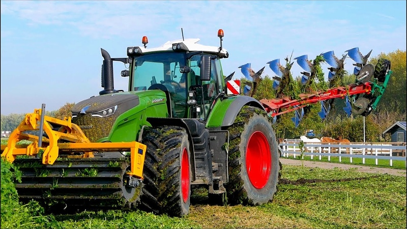 Ploughing Cover Crop | FENDT 1050 vario Kverneland LO100 on-land Dondi Cut Roller | Immink
