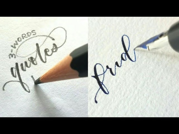 The best lettering calligraphy with a pencil and pen самые лучшие каллиграфия леттеринг