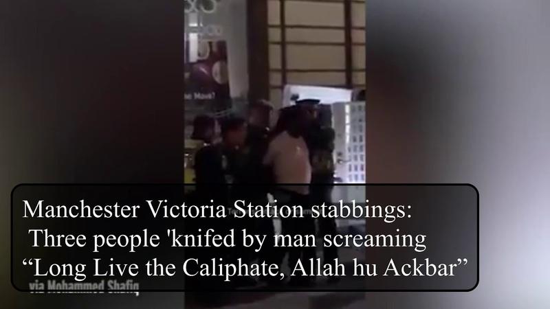 Manchester station jihadi LLTC Allah hu ackbar