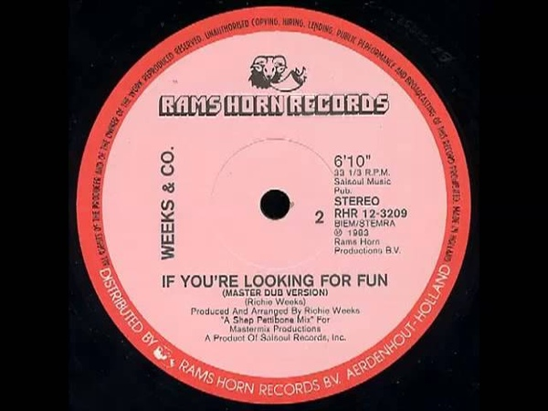 Weeks Co. - If You're Looking For Fun (Master Dub Version)