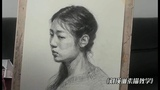 Young Girl Portrait Drawing in Pencil