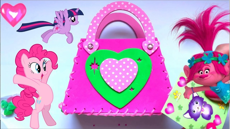 Kids Show Color and Toys My little pony and Trolls Handmade Bags for Kids Toys for Girls