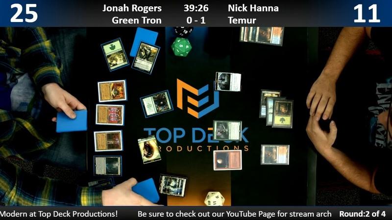 Modern w Commentary 11 1 18 Jonah Rogers Green Tron vs Nick Hanna Temur
