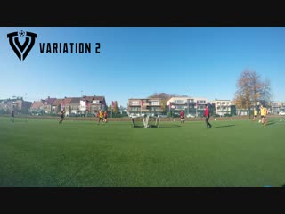 Fun cooling down game - 2 teams - 3 variations - technical football training