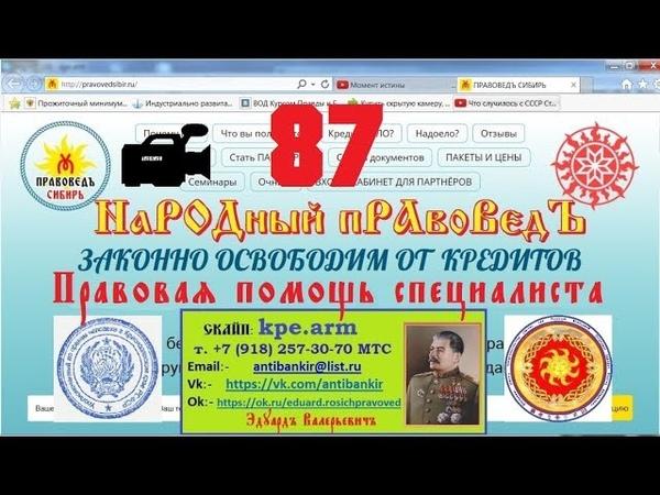 НаРОДный ПравоВедъ КОНсультируетъ 87/21.12.18 Перехват управления судебным процессом ч. 2
