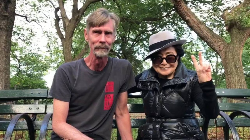 09 26 2016 Yoko Ono Strawberry Fields Central Park, New York City. Priceless!