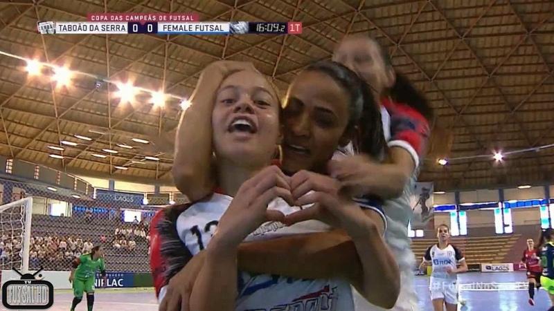 Gols Taboão 3x1 Female - 1ª Rodada Copa das Campeãs de Futsal 2019 (28032019)