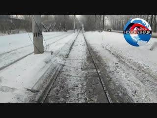 Обрыв трамвайного провода в новокузнецке, трамваи на завод не ходят