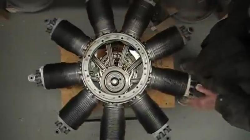 Ротативный двигатель Первой мировой