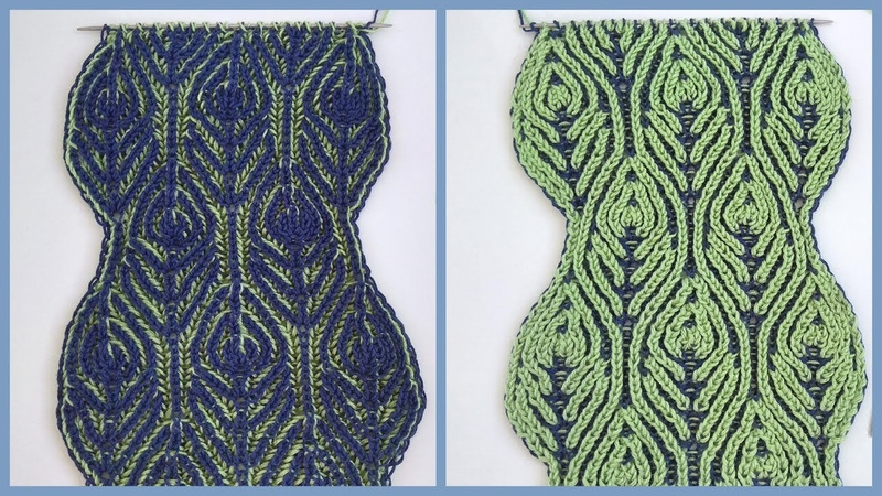 Brioche knitting *Peacock scarf* knitting patterns