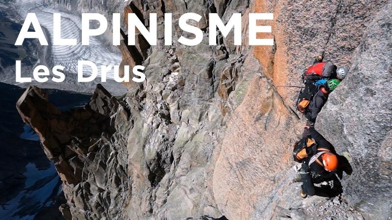 Pilier Sud du Grand Drus voie Contamine Bastien Chamonix Mont-Blanc alpinisme escalade ,- 10066