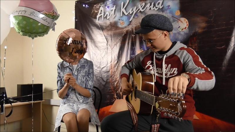 Eddy Current настраивает гитару, а Ильич троллит его из зала (Арт-кухня 16.09.18)