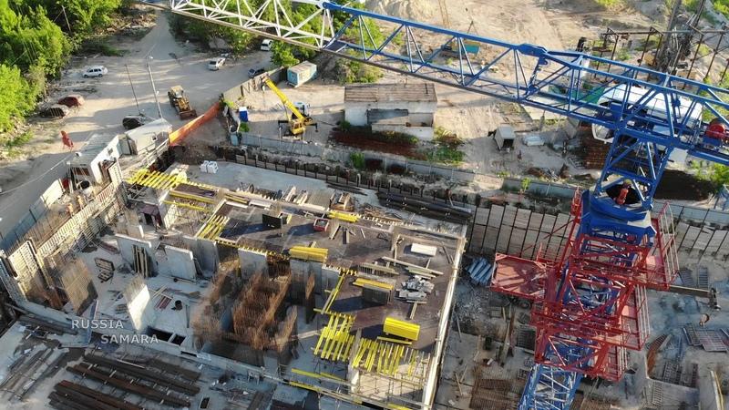 24 этажа у Ладьи ЖК Парус начало строительства город Самара Russia