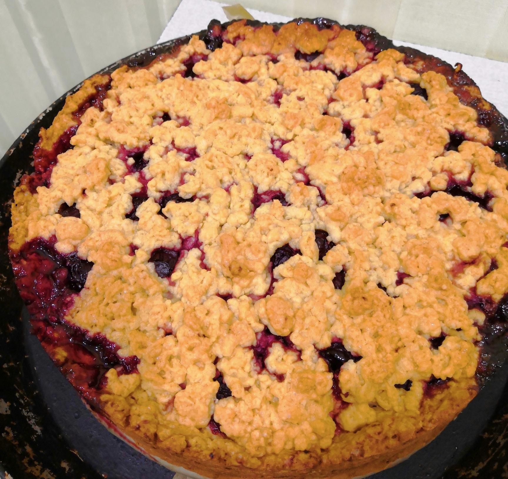 Тёртый вишневый пирог  LmGAHpWmkbs