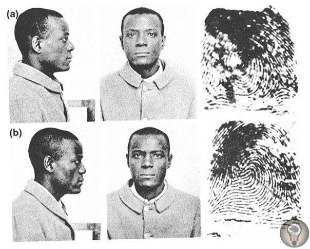 Почему у преступников снимают отпечатки пальцев В 1903 году заключенный Уилл Вест прибыл в тюрьму Leavenworth. Служащий, сделавший фотографию Веста, сказал, что помнит его, и спросил, когда