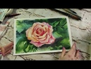 Роза акварелью / How to draw rose / Aquarellmalerei Rose